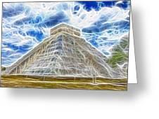 Pyramid Of The Maya  Greeting Card