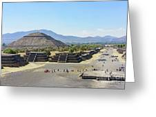 Pyramid Of The Sun And Avenue Of The Dead Greeting Card