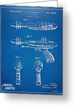 Pyrotomic Disintegrator Pistol Patent Greeting Card