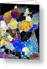 Pyroxenite Mineral, Light Micrograph Greeting Card