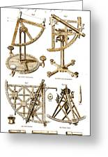 Quadrants And Sextant, 1790 Greeting Card