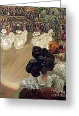 Quadrille At The Bal Tabarin Greeting Card by Abel-Truchet