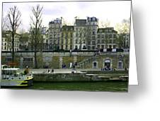 Quai De Seine Greeting Card