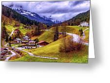 Quaint Bavarian Village Greeting Card