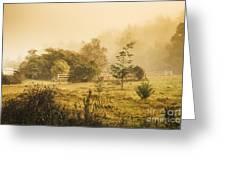 Quaint Countryside Scene Of Glen Huon Greeting Card