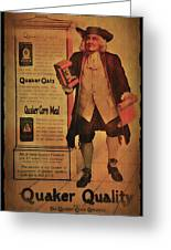 Quaker Quality Greeting Card by Bill Cannon