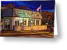 Quaker Steak And Lube Greeting Card