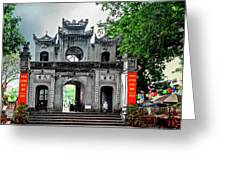 Quan Thanh Temple Gate Greeting Card
