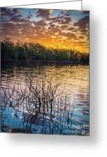 Quanah Parker Lake Sunrise Greeting Card
