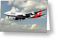 Quantas Boeing 747 Greeting Card