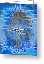 Quantum Reflections Greeting Card