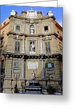 Quattro Canti In Palermo Sicily Greeting Card