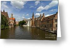 Quay Of The Rosary In Bruges Belgium Greeting Card