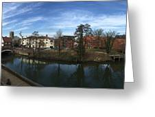 Quayside Oasis Park Panorama Greeting Card
