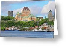 Quebec City  6326 B  Greeting Card