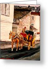 Quebec City Carriage Ride Greeting Card