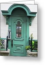 Quebec City Doors 3 Greeting Card