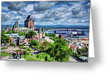 Quebec City Overlook Greeting Card