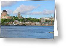 Quebec City Waterfront  6320 Greeting Card