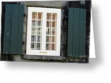Quebec City Windows 47 Greeting Card