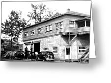 Quebec Garage 1940s Greeting Card