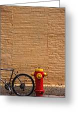 Quebec Hydrant Greeting Card