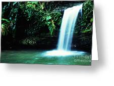 Quebrada Juan Diego Waterfall Mirror Image Greeting Card
