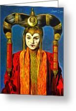 Queen Amidala Senate Costume Greeting Card