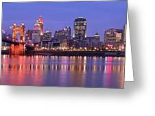 Queen City Aglow Greeting Card