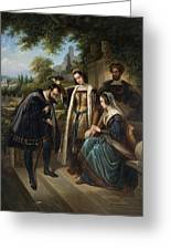Queen Isabella And Columbus Henry Nelson Oneil Greeting Card