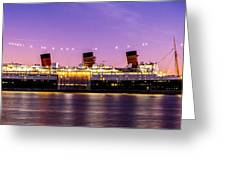 Queen Mary At Dusk_pano Greeting Card