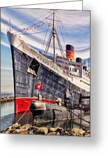 Queen Mary Ghost Ship Greeting Card