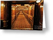 Queen Mary Hallway Greeting Card