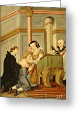 Queen Mary I Curing Subject With Royal Greeting Card