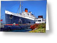 Queen Mary Ship Greeting Card
