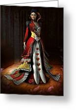 Queen Of Hearts Greeting Card
