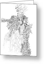 Queen Of The Afternoon Greeting Card by Regina Valluzzi