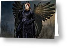 Queen Raven Greeting Card