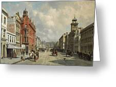Queen Street, Aukland Greeting Card