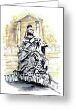 Queen Victoria In Valletta Greeting Card
