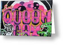 Queens Cat Mural Greeting Card