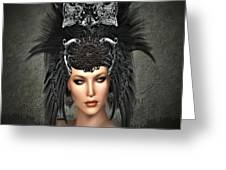 Queens Headress Greeting Card