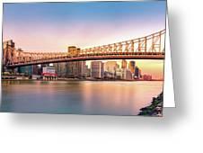Queensboro Bridge At Sunset Greeting Card