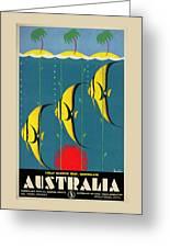 Queensland Great Barrier Reef - Vintage Poster Vintagelized Greeting Card