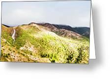 Queenstown Tasmania Wide Mountain Landscape Greeting Card