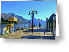 Queenstown's Majestic Mountains Greeting Card