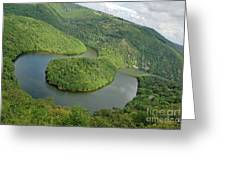Queille Meander Sioule River Greeting Card