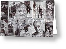 Quentin Tarantino Poster Drawing Greeting Card