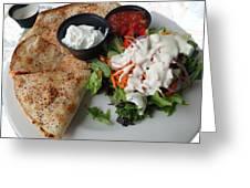 Quesadilla And Salad Greeting Card