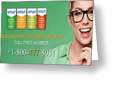 Quickbooks Customer Service Number  Greeting Card